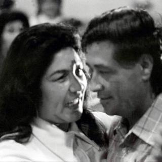 Cesar & Helen Chavez dancing.  1978