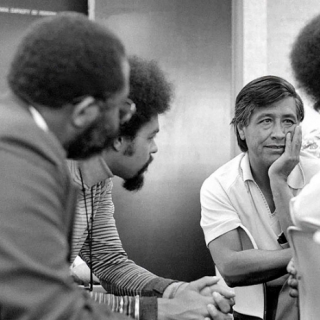 Cesar Chavez meets with founders of United Domestic Workers.