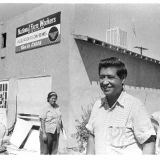Cesar Chavez / NFWA Delano 1965 / Photo by John Kouns
