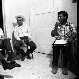 Cesar Chavez / House Meeting / Photo by John Kouns