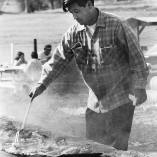 Cesar Chavez / Cooking / Photo by Jon Lewis