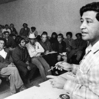 Cesar Chavez / Teaching / Photo by Jon Lewis