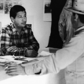 Cesar Chavez / Servicing / Photo by Jon Lewis