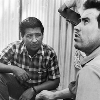 Cesar Chavez / Listening / Photo by Jon Lewis