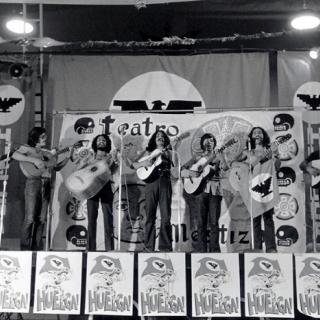 La Rondalla Amerindia at Mecha-UFW rally in Indio CA 1973