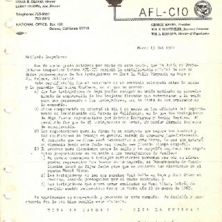 Certification of Christian Brothers Winery Contract / March 1967