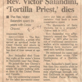 Obituary of Father Victor Salandini / August 1994