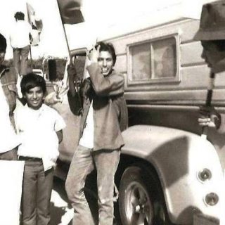 Coachella Huelgistas Eddie Gomez and brothers. Juan Sanchez (center) 10 years old. / 1970