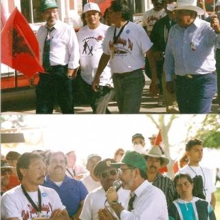 Arcadio Viveros, Mayor of Parlier, Welcomes Arturo Martiniez / Parlier / 1994