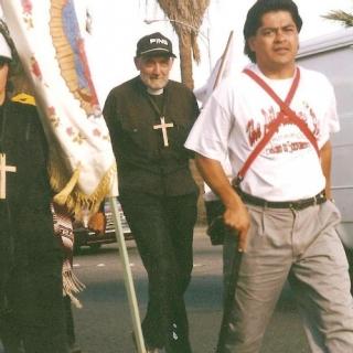 Father Victor Salandini, Cesar Chavez Blvd / Fresno / 1994