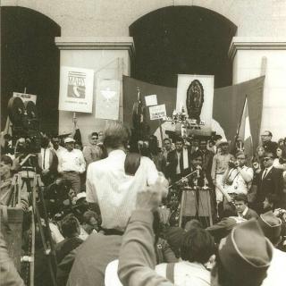 Cesar Chavez captures national attention. / April 1966