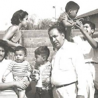 Sara & Jesus with sons Jesus & Juan with niece Olga and nephews Danny & Tony Perez. / 1961