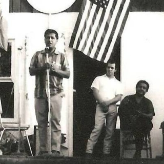 Cesar Chavez speaking in Parlier CA / August 1967