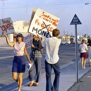 Jean Leighton at UFW Safeway Boycott in San Diego 1968