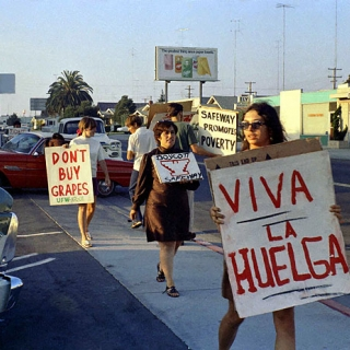 Irma Castro & Doreen Dixon at UFW Safeway Boycott in San Diego 1968