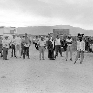 Teamster goons on Coachella picket line 1973.
