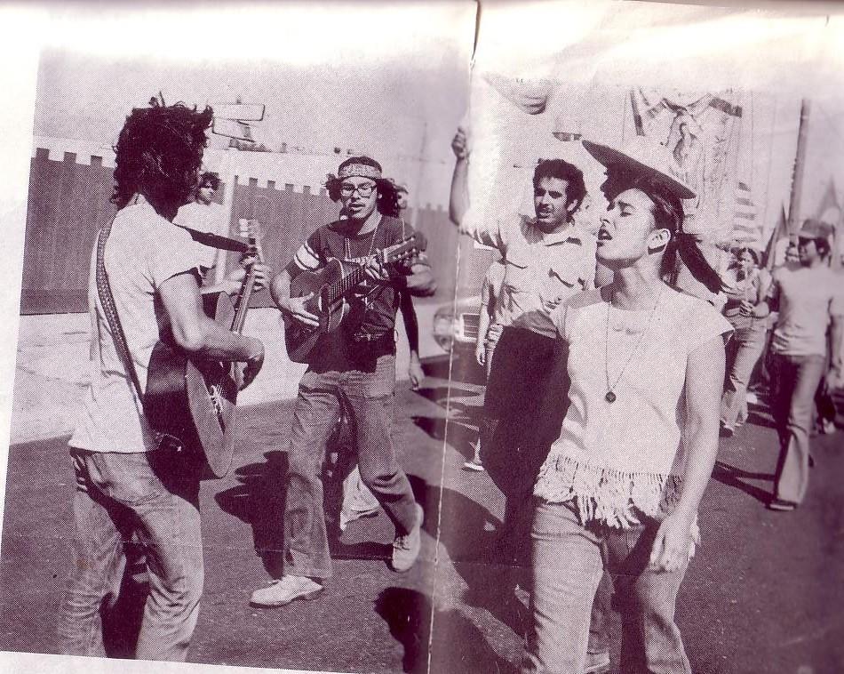 Alfredo Santos Marching In Salinas With El Teatro Campesino